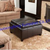 China storage ottoman with tray, ottoman beds, brown leather ottoman, wholesale