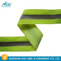 China 100% Polyester Ribbons Reflective Safety Tape Single Sided With Offer Printing wholesale