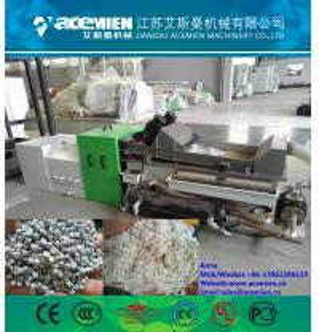Quality Used pp woven bags granulating making machine/pe plastic film pelletizing machine for sale