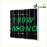 China Black Iridescent Blue 130W Monocrystalline Solar Panels with 0 - 3% Positive Output wholesale