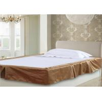 China Decorative 5 Pleat Hotel Bed Skirts And Yellow Color & Stripe Customize Size wholesale