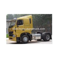 China Howo A7 4x2 Plat Roof Cabin Tractor Head Trucks With Single Sleeper Of 420hp Powerful Engine wholesale
