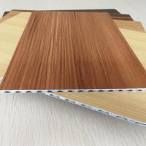 China Light Weight Fireproof Wood Grain Aluminium Core Panel , Aluminium Advertising Boards wholesale
