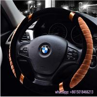 China hot sell winter use warm fur car beige steering wheel cover for TOYOTA wholesale