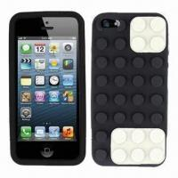 China Brick Block Cases for iPhone 5, soft silicone material, eco-friendly wholesale