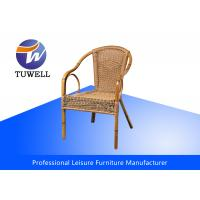 China Hand-woven Stackable Synthetic Potio Rattan Wicker Chairs For Living Room wholesale