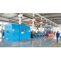 China Automated Cable Twisting Machine / Sky Blue Wire Extruder Machine wholesale