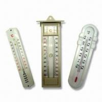 China Indoor Thermometer, Made of Wooden, Plastic or Metal Base, OEM Orders Welcome wholesale