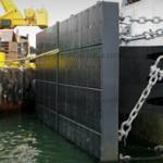 China Quay protection black UHMW-PE marine fender curved panel wholesale