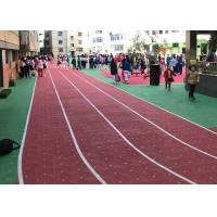 China Synthetic Portable Athletic Track Flooring High And Low Temperature Resistance wholesale