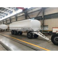 China Three Axles Heavy Duty Semi Trailers , 25000 Liters 4 Mm Thickness Liquid Tank Trailers  wholesale