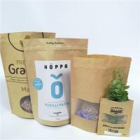 Buy cheap Brown Custom Paper Bags Clear Front Windows Eco Friendly For Packing Dried Snack from wholesalers