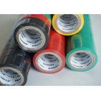 China Matte Surface PVC Electrical Tapes Black Rubber Adhesion , Voltage breakdown 4KV wholesale