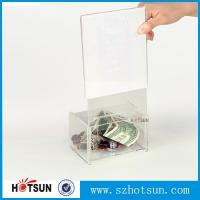 Quality Acrylic Comment/Donation /Collection/Ballot Box with Brochure Pocket and Lock for sale