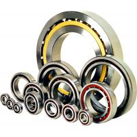 China Nylon Cage Single Row Angular Contact Bearing, Air Compressor Stainless Steel Ball Bearings wholesale