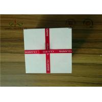 China Delicate Ribbon Bow Attached Color Cosmetic Packaging Boxes Square Shape wholesale