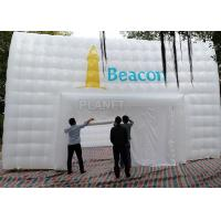 China Large White Inflatable Cube Tent 420 D Oxford Cloth Apply To Trade Show wholesale