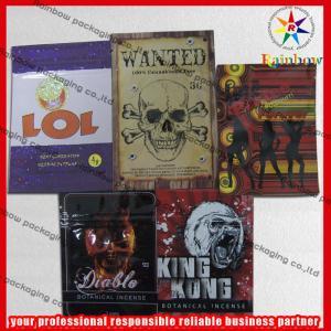 China Foil Top Ziplock Bags Herbal Incense Packaging Potpourri 4g 10g wholesale
