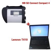 China 2018.7V Wireless MB SD C4 Mercedes Diagnostic Tool With I5 CPU 4G RAM Lenovo T410 on sale
