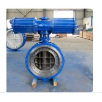 China Pneumatic Metal Seated Butterfly Valves DN300 PN10 For Industrial Waste Water wholesale