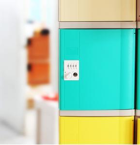 China Vandal Resistant Employee Storage Lockers Two Tier Lockers For Office / School wholesale