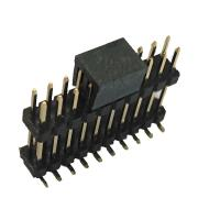 China Double Plastic Rual Row Pin Header Connector SMT PA9T Black ROHS wholesale