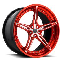 "China Customized Red 2-PC Forged Alloy Rims FOr Ferrari / Rim 22"" Alloy Car Rims wholesale"