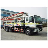 China ISUZU truck mounted concrete pump Japan chassis 37m boom with powerful engine wholesale
