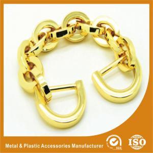 China Light Gold Aluminum Handbag Metal Chain , Purse Security Chain wholesale
