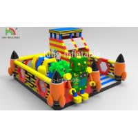 China Children Inflatable Jumping Castle Robot Model With Slide 2 Year Warranty wholesale