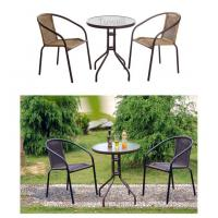 China Commercial Aluminum Waterproof Wicker Chairs With PE Plastic Rattan wholesale