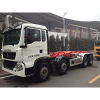 China 12 Wheels 366hp Hook Lift Bin Trucks To Transport Urban Living Non Toxic Garbage wholesale