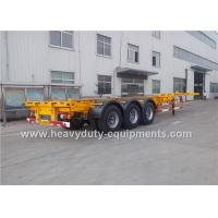China 12R22.5 Tire Container Chassis Trailer , Skeleton Semi Traile 20Ft - 40Ft wholesale