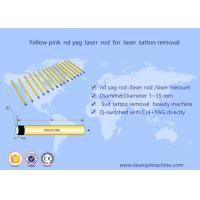 China 5*85mm Nd Yag laser  rod yellow pink crystal  for tattoo removal  beauty machine wholesale
