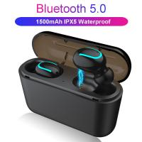 China Bluetooth headset 5.0 two-ear wireless stereo motion workout wireless headphones on sale