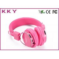 China 3.0 Wireless Bluetooth Stereo Headphones Pink With FCC / CE / RoHS Certificate wholesale
