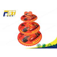 China 3 Tiers Colorful Printing Tiered Cardboard Cupcake Stand With Your Own Logo wholesale
