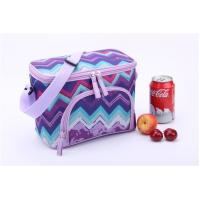 China Purple Wave Print Insulated Promotional Small Lunch Bags Measured 24.5 * 14 * 16cm wholesale
