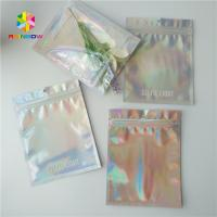 Quality Brightly Laser Cosmetic Packaging Bag With Clear Front / Back Holographic for sale