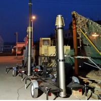 China 15m trailer mast tower system/pneumatic telescopic mast/ mobile trailer system/ telecommunication tower mast on sale