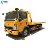 China Size 6300mm Load Weight 7ton Sinotruk HOWO 4x2 Flatbed Tow Truck on sale