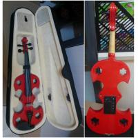 China Red Adult Full Size Solid Basswood Electric Violins With Ebonized Fingerboard wholesale