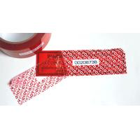 China Conventional Packaging Tamper Seal Tape With OPENVOID Hidden Message wholesale