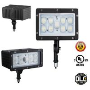 China AC100-277V 5 Years Warranty 45W Outdoor LED Flood Light LED Security UL DLC wholesale