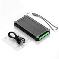 China Rectangle Li-polymer Battery Solar Power Bank 8000mAh for Travel Backup Emergency wholesale