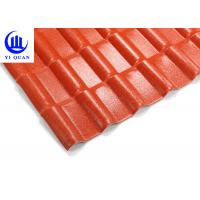 China Spanish ASA PVC Roofing Tile New Style Construction Synthetic Resin  Roof Tile on sale