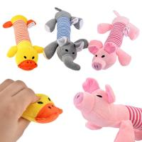 China Funny Plush Puppies Squeaker Toys , Plush Stuffed Dogs For Entertainment wholesale
