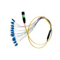 Buy cheap MTP / MPO - LC Fiber Optic Patch Cord Customized Length For Premise Installation from wholesalers