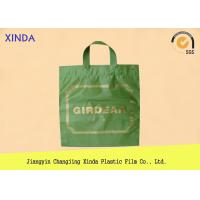 Quality Low-Density die cut plastic garment/clothes handle bags 190mmx240mm colour for sale