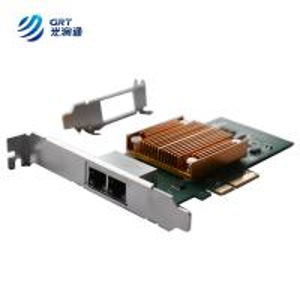 China Gigabit dual Port RJ45 Intel I350 PCIe x8 Compatible Optical Network Card on sale
